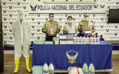 Entrega de elementos de bioseguridad a la Policía Nacional