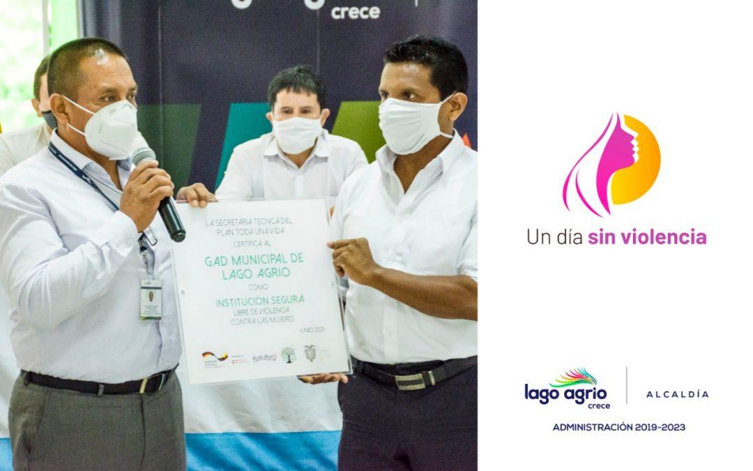 """ALCALDÍA DE LAGO AGRIO IMPULSA CAMPAÑA DE SENSIBILIZACIÓN «UN DÍA SIN VIOLENCIA"""""""