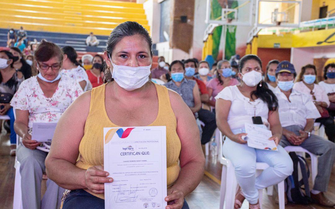 MÁS DE 500 PERSONAS RECIBEN EL CERTIFICADO DE CAPACITACIÓN